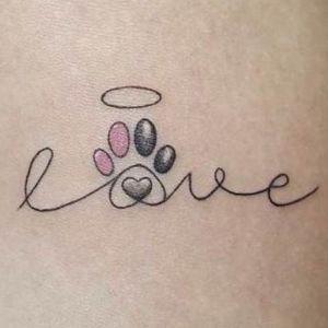 tatuaje de amor para mascotas
