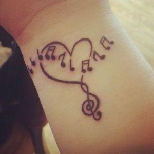 tatuajes de amor a la música