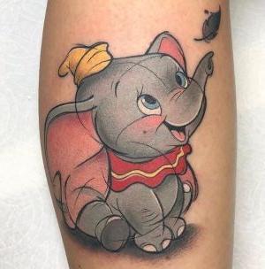 tatuaje disney dumbo