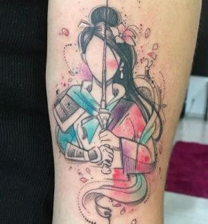 tatuaje disney mulan