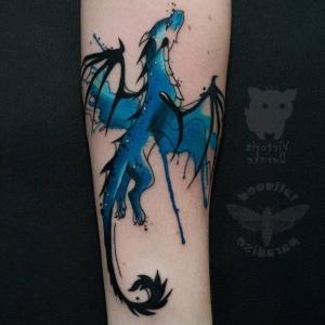 tatuaje de dragon alado