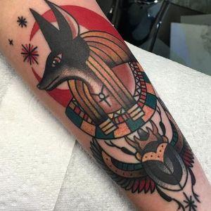 tatuaje egipcio ols school