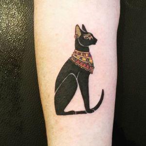 tatuaje gato egipcio