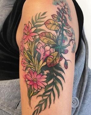 flores tatuadas