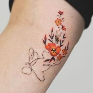 ideas de tatuajes de flores