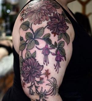 ideas y diseños de tatuajes de flores
