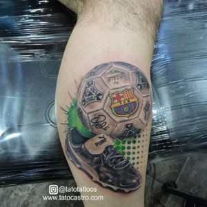 imagen tatuaje de futbol