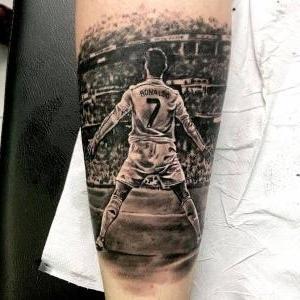 tatuaje para los amantes del futbol