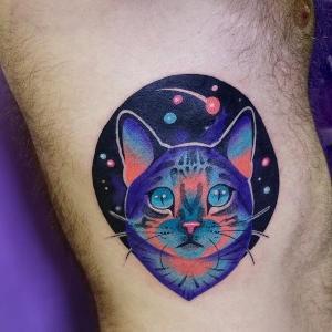 Tatuaje de gato de Ilona Kochetkova