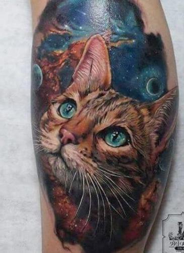 foto de tatuaje de gato