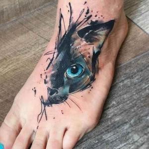 tatuaje boceto de gato