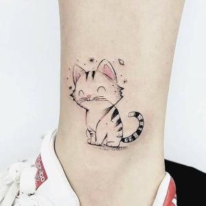 tatuaje chido de gato