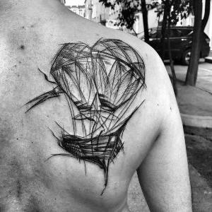 tatuaje bosquejo espalda