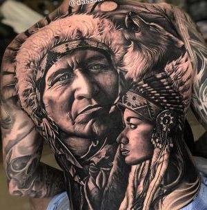 tatuajes realistas indios