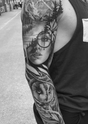 tatuajes para hombres brazo completo