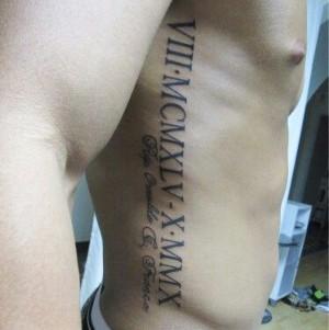 tatuaje para hombre frases en costillas