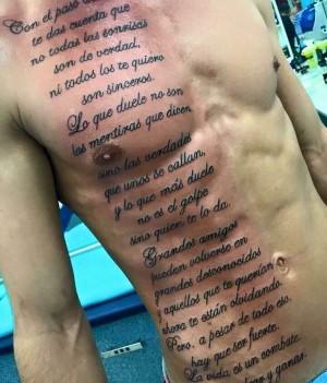 tatuaje para hombrre frases costillas