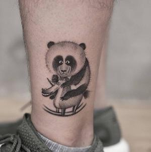 tatuaje chulo en la pierna