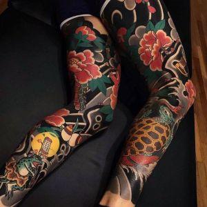 tatuajes japoneses en las piernas