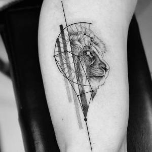 diseño original de tatu de leon