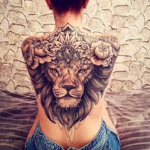 tatuajes sexis de leones