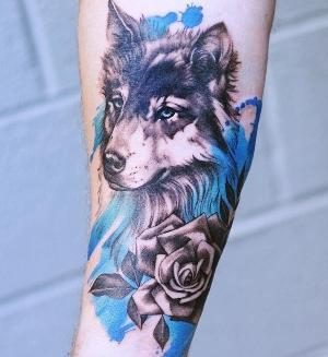 imagen de tatuajes de lobo