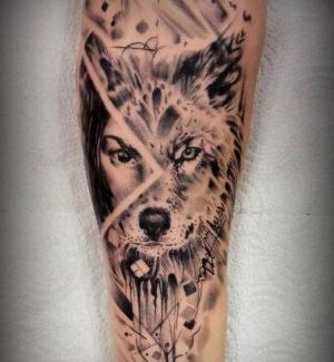 tatu lobo y mujer