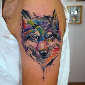 tatuaje de lobo de javi wolf