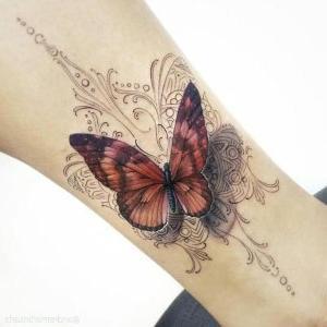 hermosos tatuajes de mariposas