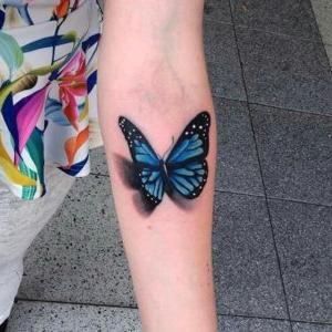 tatuaje 3D mariposa
