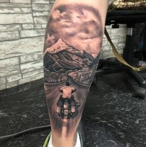 tatuaje para amantes de las motos