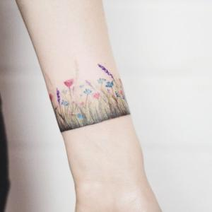 pulsera flores tatto