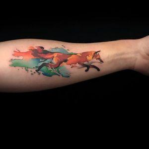 tatuaje antebrazo zorro