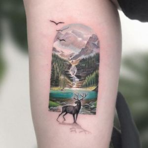 tatuaje para mujeres de paisaje