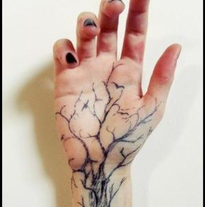 tatuaje en la palma de la mano