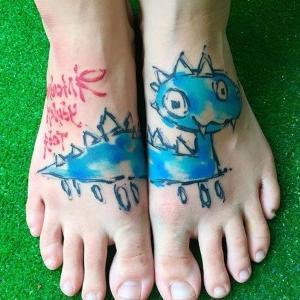 los mejores tatuajes en los pies