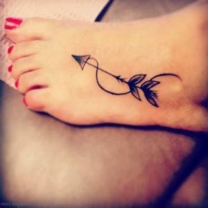 pie mujer tatuaje