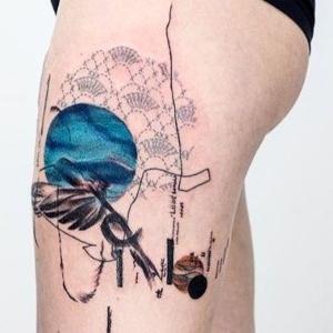 ideas originales para tatuajes en las piernas