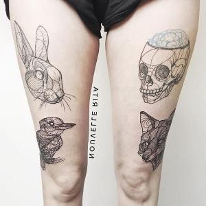 los tatuajes que se hacen en las piernas mujeres