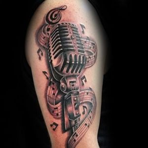 tatuaje de musica microfono