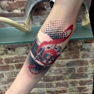 tatuaje de musica trash polka