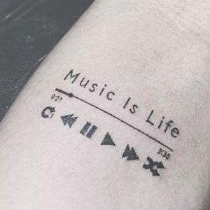 tatuaje original de musica