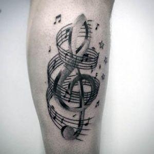 tatuajes musica notas