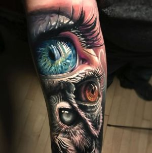 tatuaje de ojos para hombre