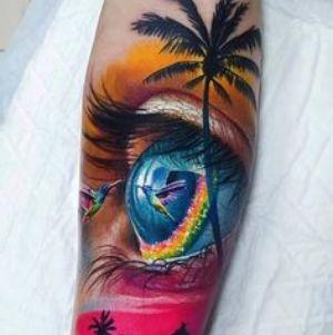 tatuajes de ojo realistas