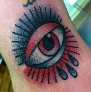 tatuajes old school de ojos