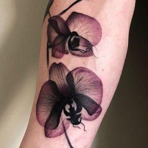 imagen de tatuaje de orquideas