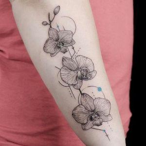 tattoo de orquideas