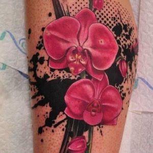 tattoo orquideas a color
