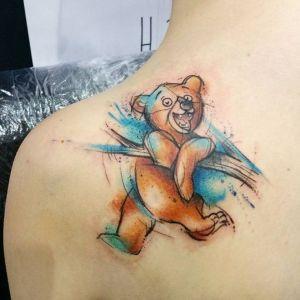 tatuaje de oso peluche